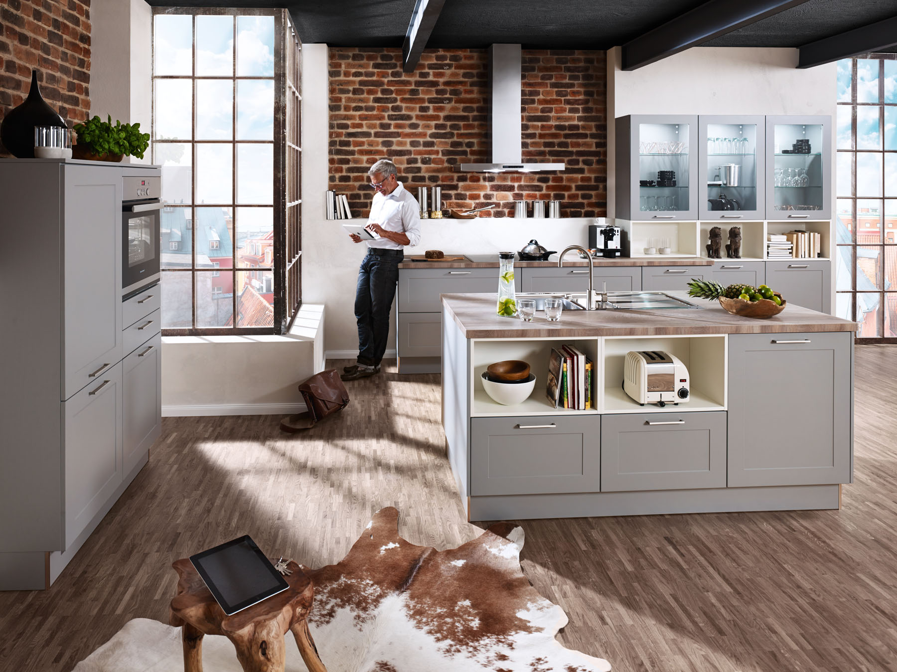 De keuken hier wordt geleefd hoppe keukens in leer duitsland